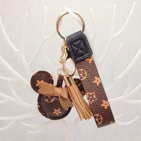 LV钥匙扣皮绳挂件包包挂件