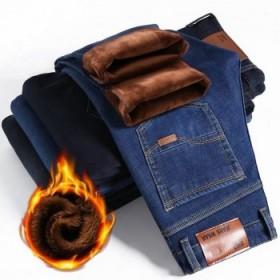 秋冬款弹力加绒加厚男士牛仔裤