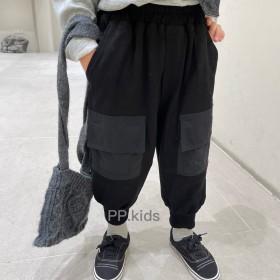 男童春秋裤子儿童卫裤中童工装裤炸街束脚裤韩版休闲裤