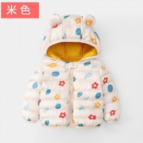秋冬新款翻领常规婴幼儿棉衣男童女童宝宝棉袄外套