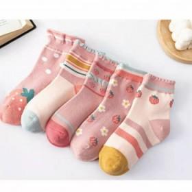 5双装儿童袜子女童纯棉
