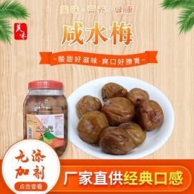 潮汕酸梅腌制咸水梅青梅罐装2kg厂家散装话梅蜜饯