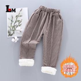 女童裤子冬季加绒2021新款女宝宝休闲裤长裤儿童洋