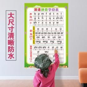儿童拼音字母表九九乘法除法口诀表墙贴数字表认卡