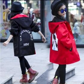 女童风衣外套春秋中长款女大童外套春装中大童女孩洋气