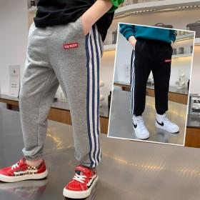 男童运动裤子春秋款中大儿童卫裤时尚休闲裤中学生裤子