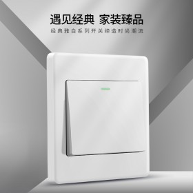 禁止使用平台优惠券国际电工86型家用开关插座面板一