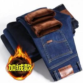 秋冬季加绒加厚弹力牛仔裤