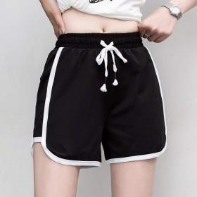 健身跑步速干运动短裤女2020夏季纯色宽松外穿韩版