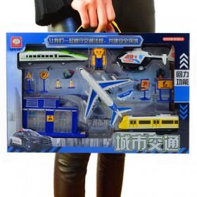 儿童玩具工程车军事导弹车盒装