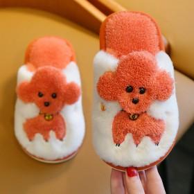 儿童棉拖鞋泰迪可爱男女童