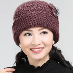 中老年女冬季老人保暖奶奶帽秋冬天妈妈帽子加绒加厚