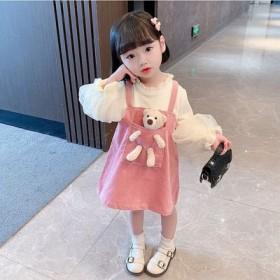 儿童裙子秋款公主裙女童秋装连衣裙洋气假2件3周岁宝