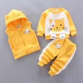 韩版冬款儿童服装三件套