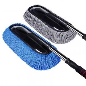 汽车除尘两件套 洗车刷子汽车用品长柄伸缩棉线软毛