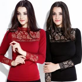 保暖内衣女加厚加绒双层冬季修身长袖打底