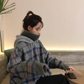 冬季卫衣女韩版宽松学生学院风假两件