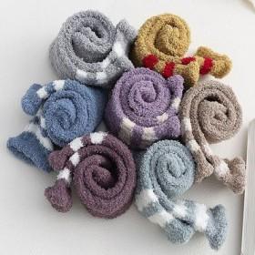 袜子女冬珊瑚绒半边女士日系绒加厚加绒人 地板袜秋冬