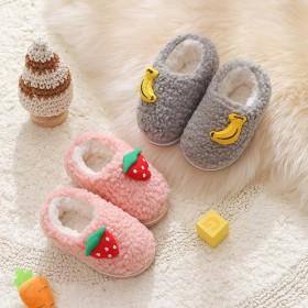儿童新款小蹦豆棉防滑包跟1-3岁女童可爱宝宝棉鞋